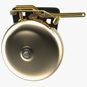 brass boxing bell rigged model