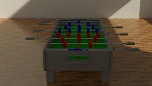 3D model soccer table