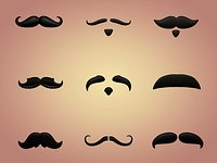 Cartoon Mustaches Pack