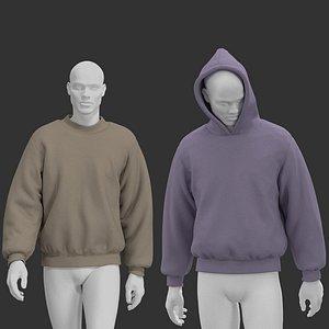 3D Yeezy hoodie. Marvelous CLO 3D zprj projects model