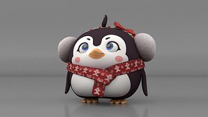 3D penguin rig model