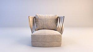 Cantori Twist armchair 3D model