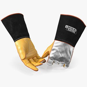 Lincoln Electric Aluminized Heat Resistant Welding Gloves 3D