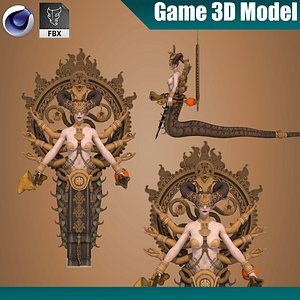 3D model Milia Cartoon Knight