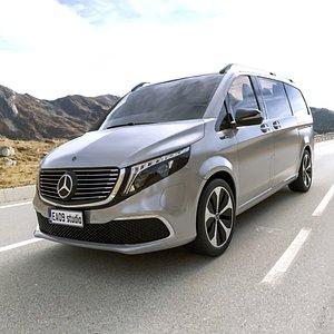 3D 2021 Mercedes Benz EQV 300 model