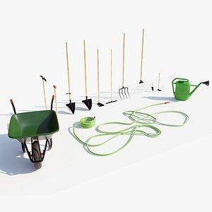 3D Garden Equipment model