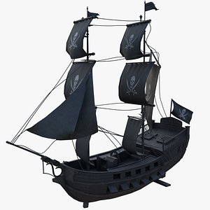 3D Pirate Sailing Ship