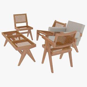 cassina wood wooden 3D model