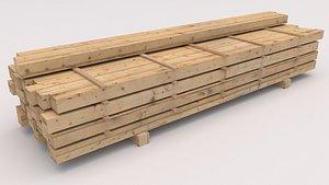 Wooden Beams 01 3D