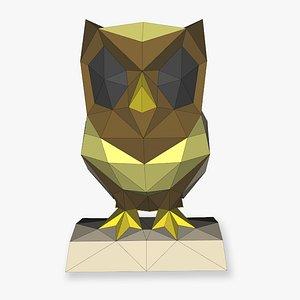3D Owl  small 3D Papercraf model