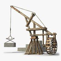 Medieval Wooden Crane