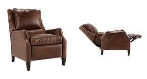 3D leather recliner
