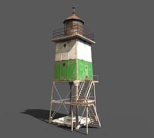 metal lighthouse 3D model