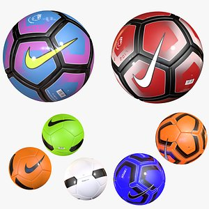 3D Nike Soccer Ball Collection model