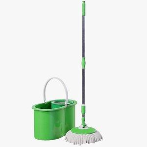 3D Mop And Bucket PBR