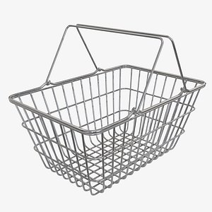3D metal shop basket