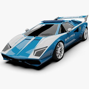 3D Unity 3D Generic Italy Police Car Cheetah