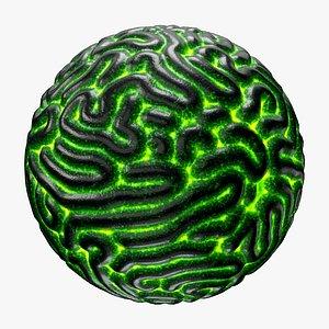 3D artificial brain sci-fi scenes