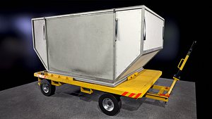 ULD Container and Trailer 3D model