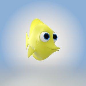 3D Yellow Tang Fish