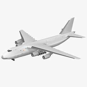 Russian Heavy Transport Aircraft Rigged 3D model