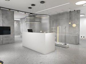 3D Company Reception model
