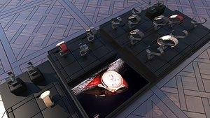 3D timepiece watch wristwatch model