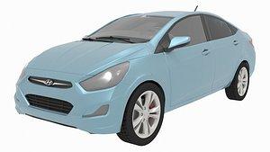 Hyundai Solaris or Hyundai Accent 3D
