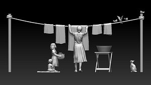 3D family model