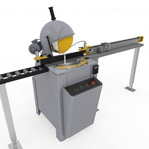 saw rigged adjust 3D model