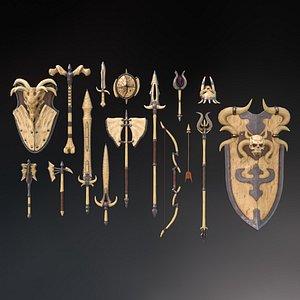3D Fantasy Weapon Bone set