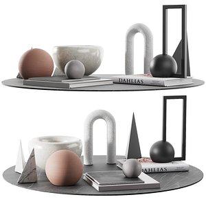 3D 003 living geometric figure decor set 00