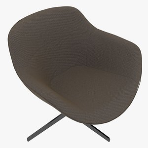 Cassina 277-22 Auckland Arm Chair Taupe Fabric Black Body model