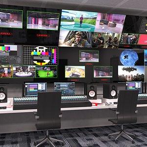 3D Tv Production Control Room