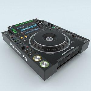Tabletop DJ Player Pioneer CDJ 2000NXS2 3D