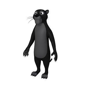 3D panther mammal animal