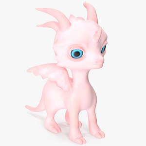 3D model Dragon Unicorn