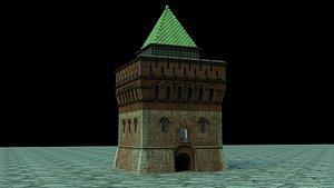 3D Dmitrovskaya tower, Nizhniy Novgorod