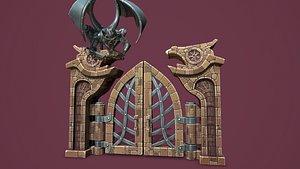 Fantasy main entrance 3D model