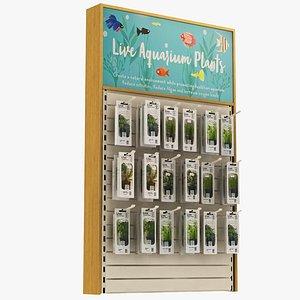 3D Pet Shop - Aquarium Objects model
