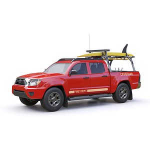 lifeguard truck 3D model