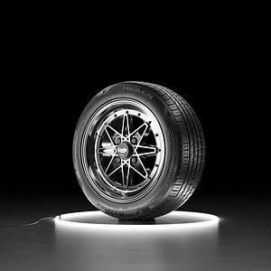 Car wheel NEXEN NFERA AU7 tire with WORK EQUIP 03 3D model