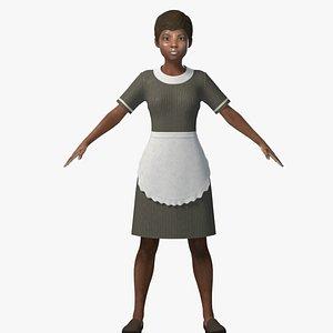 restaurant waiter 3D model