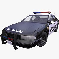 Generic 1990s American Police car