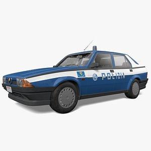 3D model Alfa Romeo 75 Polizia 80's
