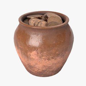 coins pot 3D model