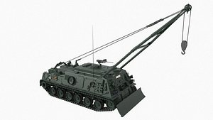 recovery vehicle armored m88a1 3D model