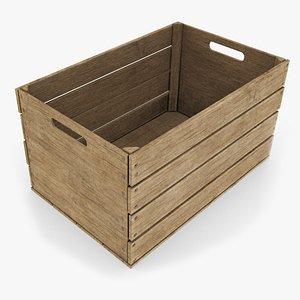 3D fruit crate wood