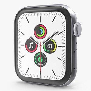 3D Apple Watch SE Silver model