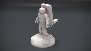 holder moon astronaut model